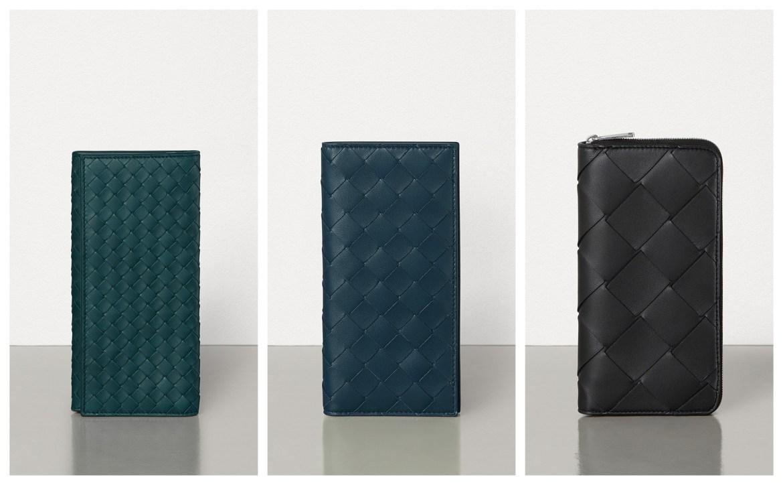 Bottega Veneta intrecciato leather in different scales