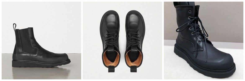 Bottega Veneta light boots in storm cuir by Daniel Lee