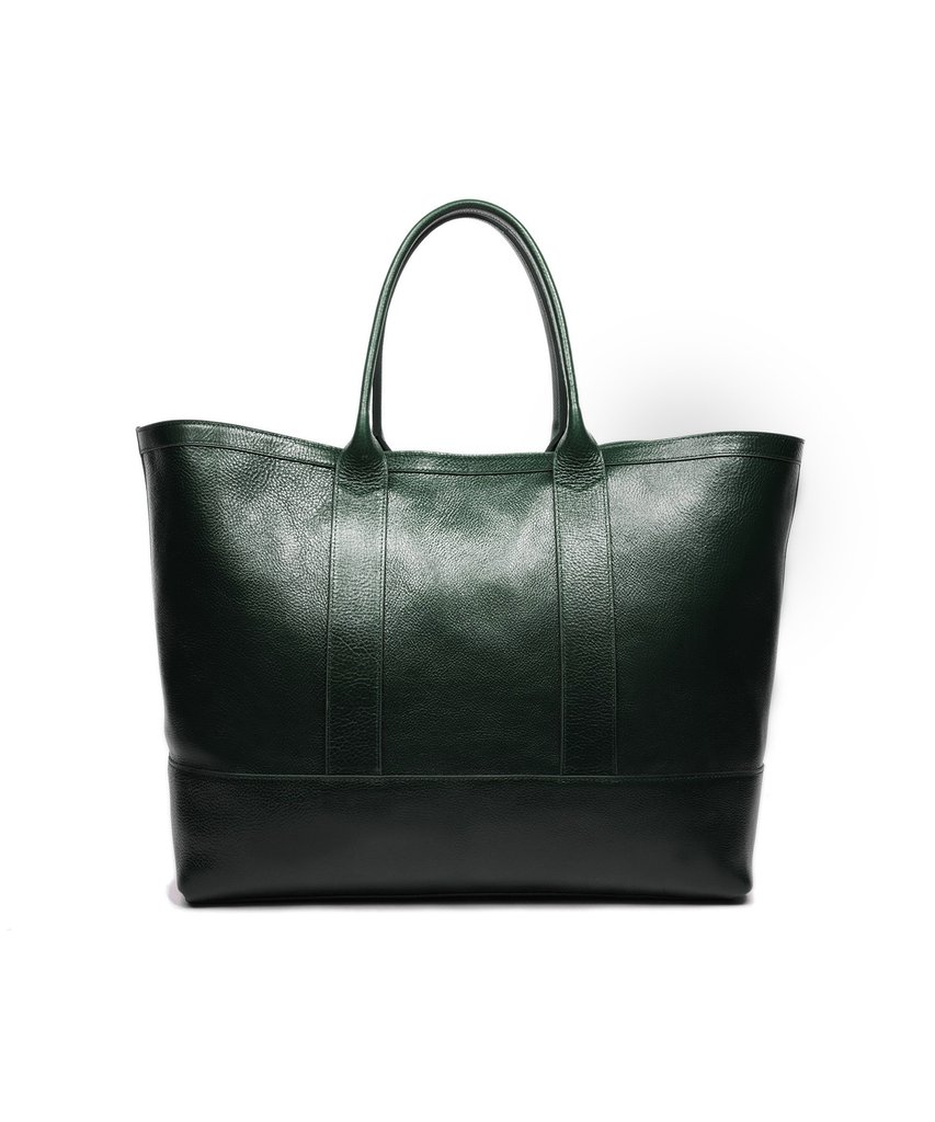 Lotuff leather working tote in green