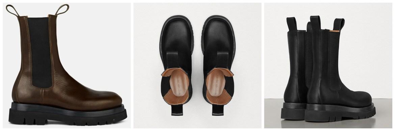 Bottega Veneta platform chelsea boots by Daniel Lee