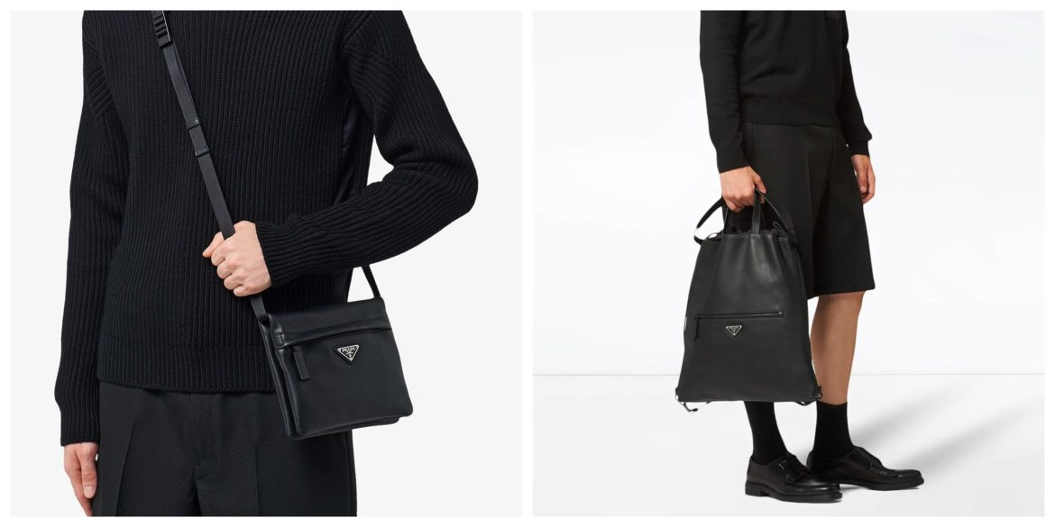 Prada city calf leather bags