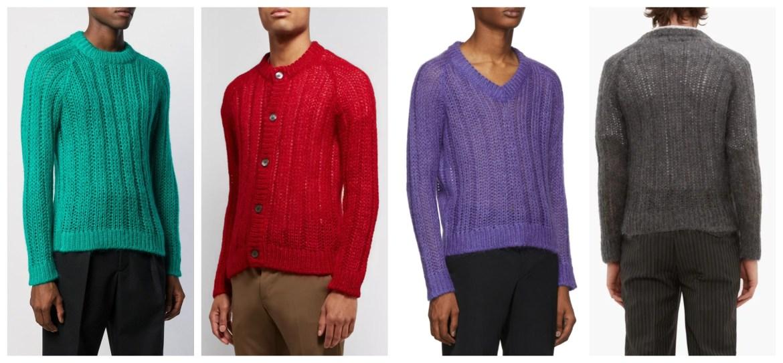 Prada Fall 2019 menswear mohair knits