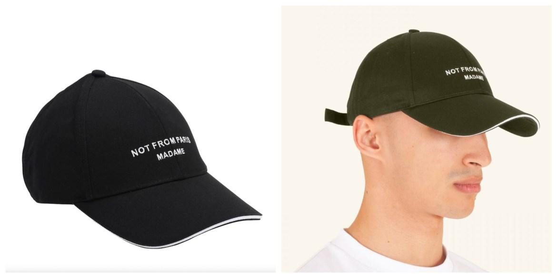 Drole de monsieur not from paris madame baseball cap in black