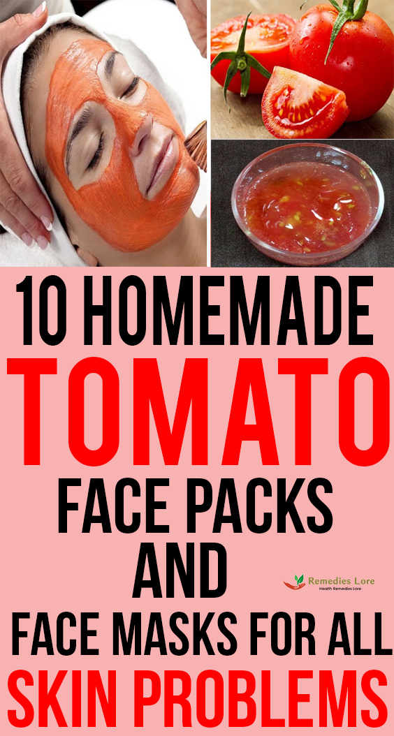 10 Homemade tomato face packs and face masks for all skin problems