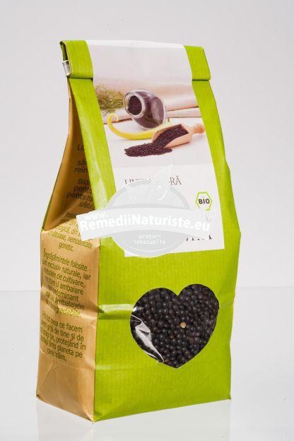 LINTE NEAGRA 500g LONGEVITA Tratament naturist aliment ecologic pentru o dieta sanatoasa aliment naturist pentru o dieta sanatoasa