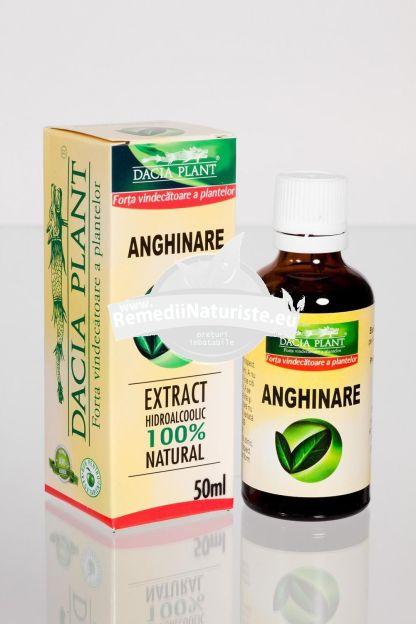 TINCTURA ANGHINARE 50ml DACIA PLANT Tratament naturist leziuni ale ficatului antiinfectios coleretic-colagog decongestiv renal