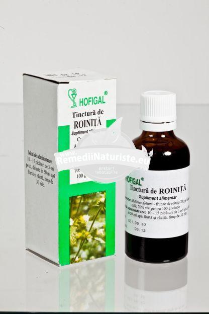 TINCTURA ROINITA (MELISA )50ml HOFIGAL Tratament naturist afectiuni gastrointestinale insomnie tahicardie anxietate