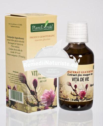 VITIS VINIFERA (VITA DE VIE) 50ml PLANTMED Tratament naturist antianemic artroza artrita artrita deformanta