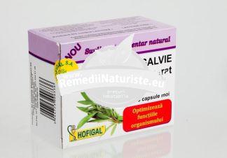 ULEI SALVIE 40cps HOFIGAL Tratament naturist favorizeaza eliminarea gazelor intestinale astenie fizica si psihica nervozitate dispepsii