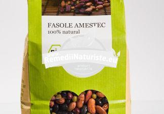 FASOLE AMESTEC 500g LONGEVITA Tratament naturist aliment ecologic pentru o dieta sanatoasa contine vitamine si minerale