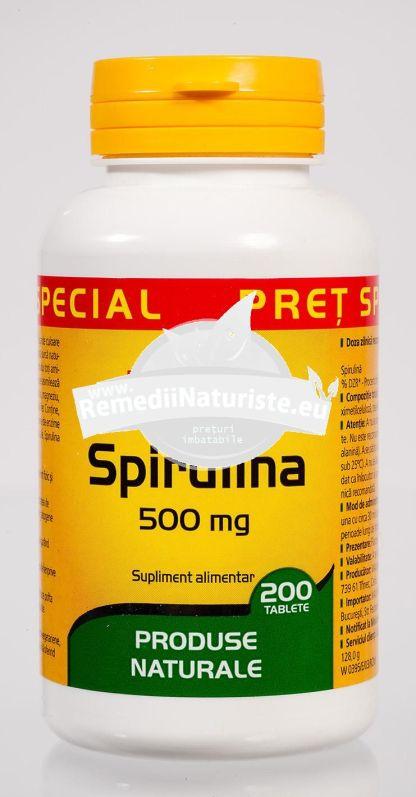 SPIRULINA 500MG 200CPS WALMARK Tratament naturist sustinerea efortului fizic si intelectual intens creste tonusul fizic si psihic digestie tranzit intestinal