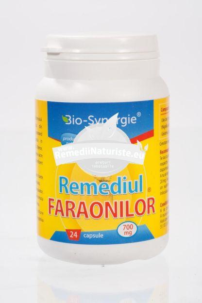 REMEDIUL FARAONILOR 650mg 24 cps BIO-SYNERGIE ACTIV Tratament naturist alergii dermatoze psoriazis astm