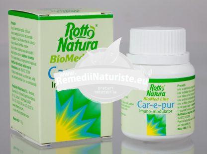 CAR-E-PUR (IMUNO-MODULATOR) 30cps ROTTA NATURA Tratament naturist antiinfectios antiinflamator gripa herpes simplex 1 si 2