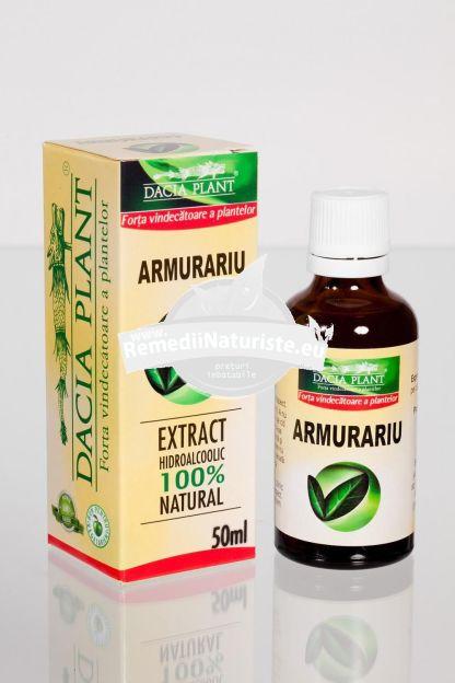 TINCTURA ARMURARIU 50ml DACIA PLANT Tratament naturist hepatite ciroze stari inflamatorii ale ficatului hepatita