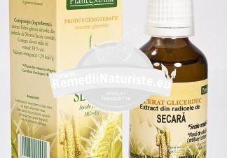 SECALE CEREALE (SECARA) 50ml PLANTMED Tratament naturist stimuleaza direct celula ficatului ictere infectioase sechele posticterice hepatita acuta si subacuta