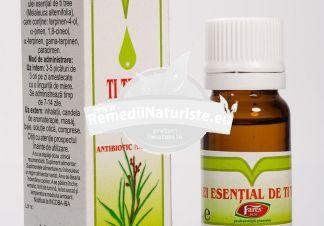 ULEI TI-TREE 10ml FARES Tratament naturist infectii respiratorii intepaturi de insecte(comprese) cistita acuta si cronica uretrite nespecifice