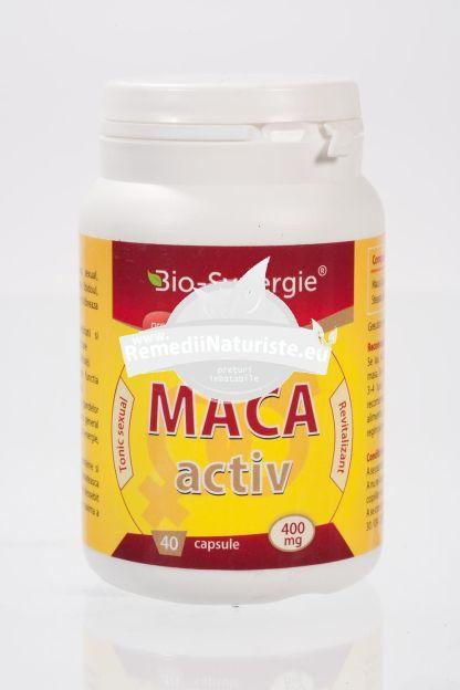 MACCA ACTIV 400mg 40 cps BIO-SYNERGIE ACTIV Tratament naturist tonic sexual creste fertilitatea marirea libidoului echilibreaza hormonal