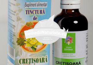 TINCTURA CRETISOARA 50ml SANTO RAPHAEL Tratament naturist dureri uterine diaree menometroragii leucoree