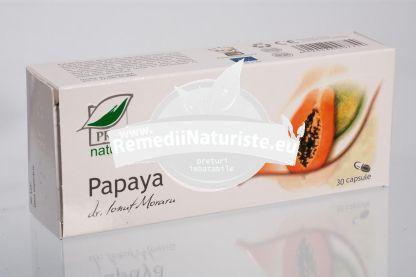 PAPAYA 30cps blister MEDICA Tratament naturist tulburari digestive afectiuni hepatice diabet metabolism