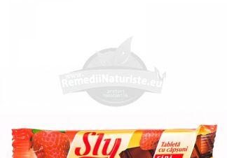 TABLETA (CIOCOLATA) CAPSUNI 25gr SLY NUTRITIA Tratament naturist uz alimentar - pentru diabetici produs dietetic pentru diabetici diete hipoglucide