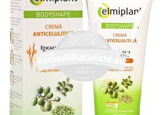 CREMA ANTICELULITICA BODY SHAPE 200ml ELMIPLANT Tratament naturist combate aspectul de coaja de portocala restabileste colagenului in piele activeaza microcirculatia sanguina