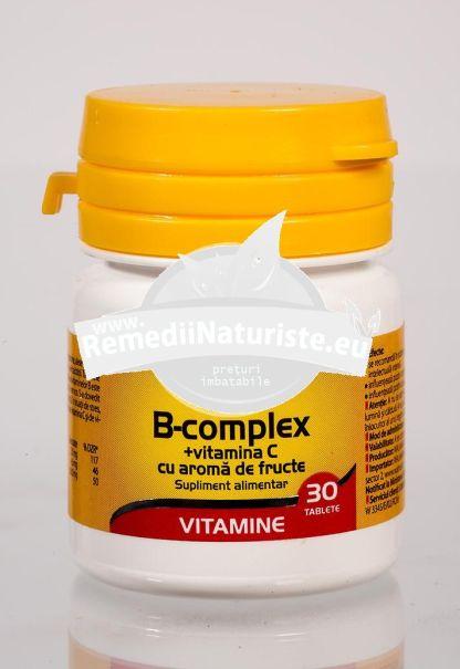 B COMPLEX+VIT.C 30tb WALMARK Tratament naturist stari de oboseala excesiva tonic general stres oboseala