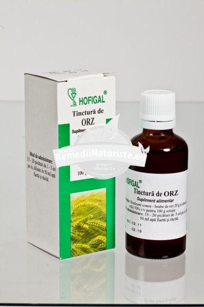 TINCTURA ORZ 50ml HOFIGAL Tratament naturist anemie afectiuni hepatice tumori tulburari de crestere la copii