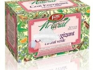 CEAI NATURAL ENERGIZANT CU CEAI VERDE 20dz FARES Tratament naturist racoritot tonifiant antioxidant alunga oboseala