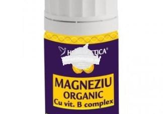MAGNEZIU ORGANIC 80cps HERBAGETICA Tratament naturist antispastic vitaminizant tonic cardiac normalizeaza glicemia
