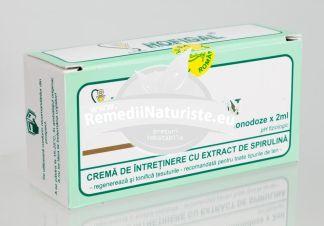 CREMA SPIRULIN (30*2ml) monodz HOFIGAL Tratament naturist hidratanta antirid emolienta riduri