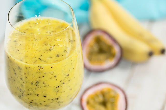 suco de maracujá com banana é muito aceita pela criançada