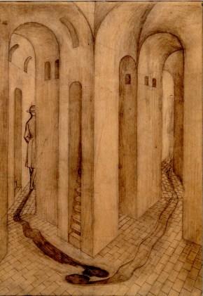 La Despedida (Dibujo Previo), 1958.