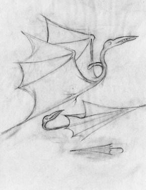 Pterodáctilo (Dibujo Previo), 1959.