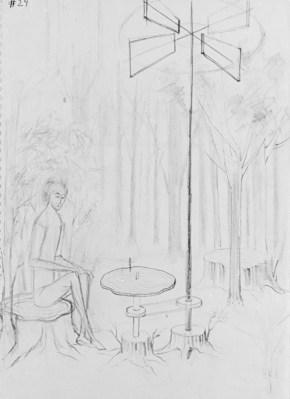 Música del Bosque (Dibujo Previo II), 1963.