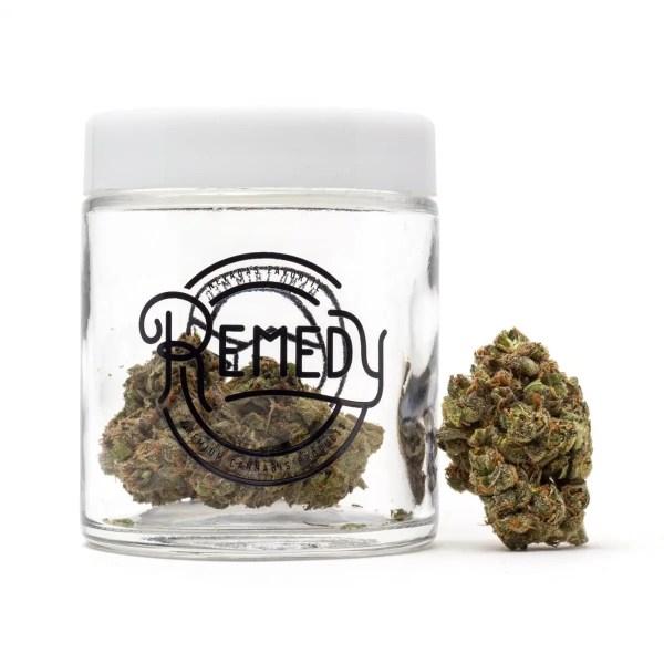 island sweet skunk flower in Remedy glass jar