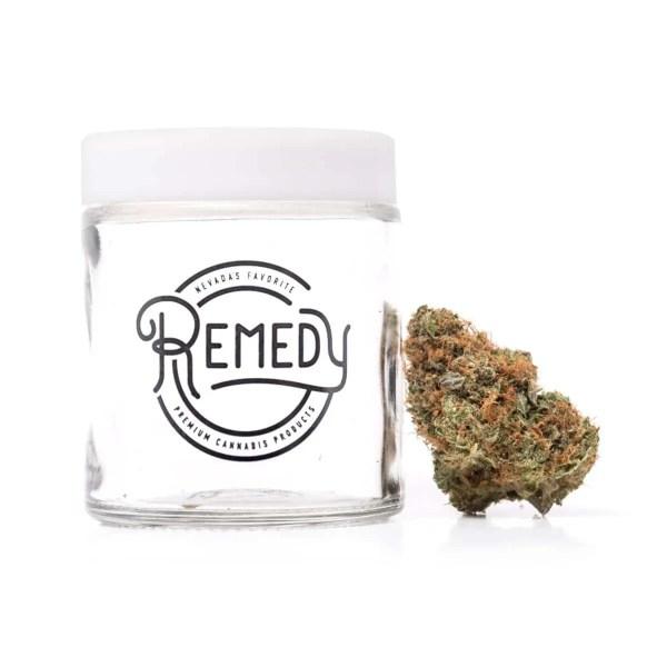 sfv og flower strain outside glass jar