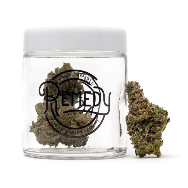 Ultimate chemdawg strain outside clear glass jar
