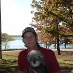 Richard A. Cochran with dog