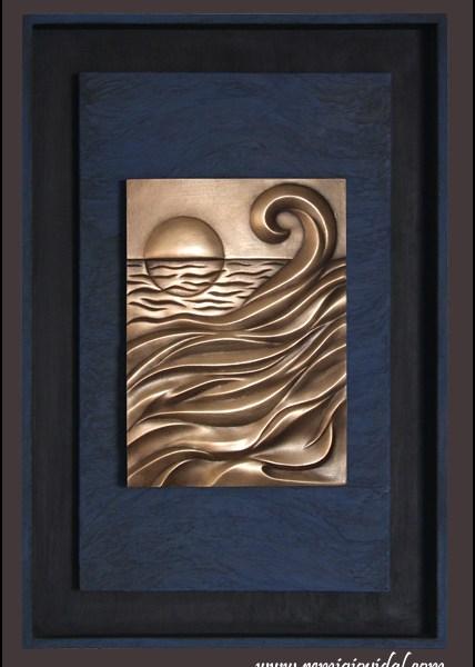 Sunset - Escultura de fundición en bronce - Escultor Remigio Vidal