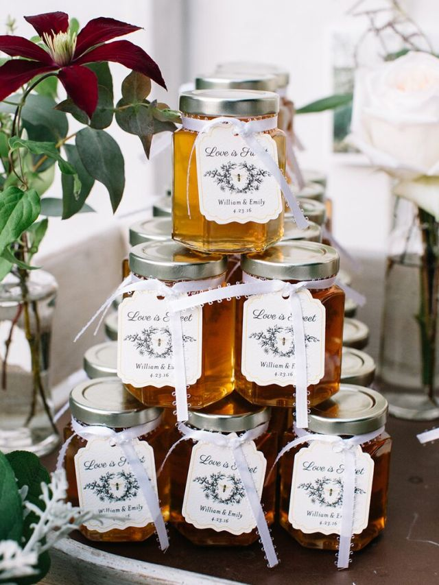 Favors aren't a necessity, but they're a nice way to show your thanks to your guests. If you're looking for a cute thank-you gift your guests will actually use, we always recommend something edible.