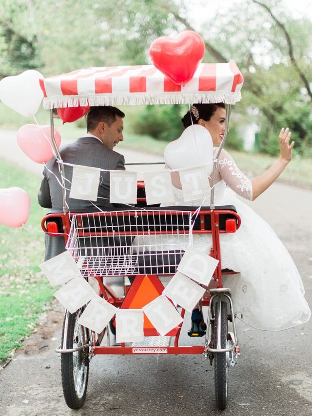A stylish exit is the exclamation point to a great wedding day, not to mention your last chance to drive home your personal style. Take full advantage of this opportunity.