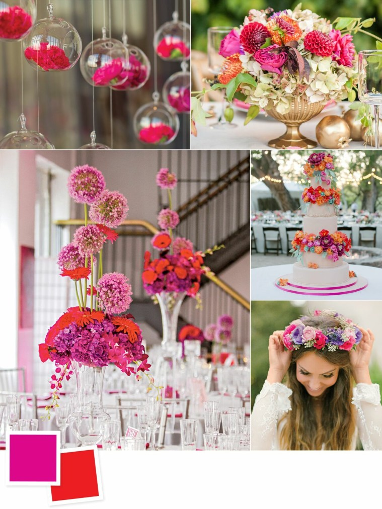 Fuchsia and Poppy: Evergreen Wedding Colour Combos For Your Wedding Decoration