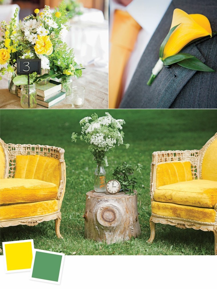 Canary and Artichoke: Evergreen Wedding Colour Combos For Your Wedding Decoration