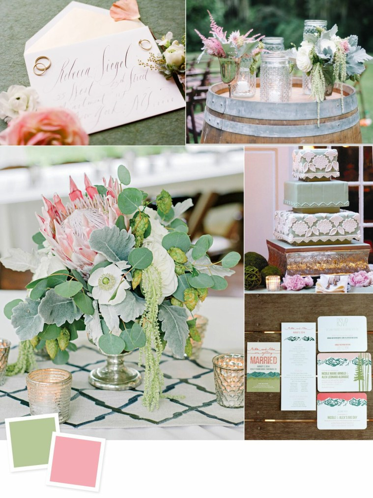 Sage and Peony: Evergreen Wedding Colour Combos For Your Wedding Decoration