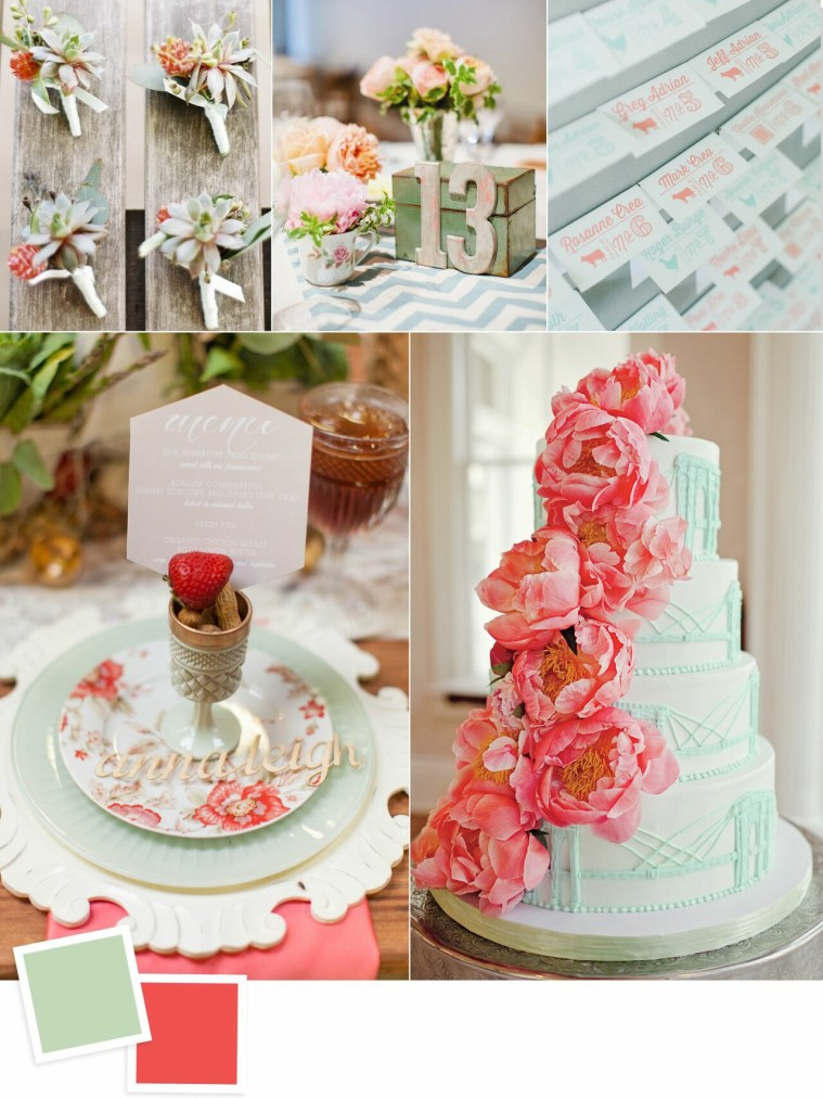Mint and Coral: Evergreen Wedding Colour Combos For Your Wedding Decoration