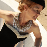 50s pearl rhinestone collar necklace-remix vintage fashion