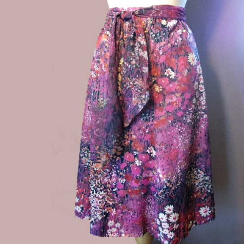 70s feminine washable skirt