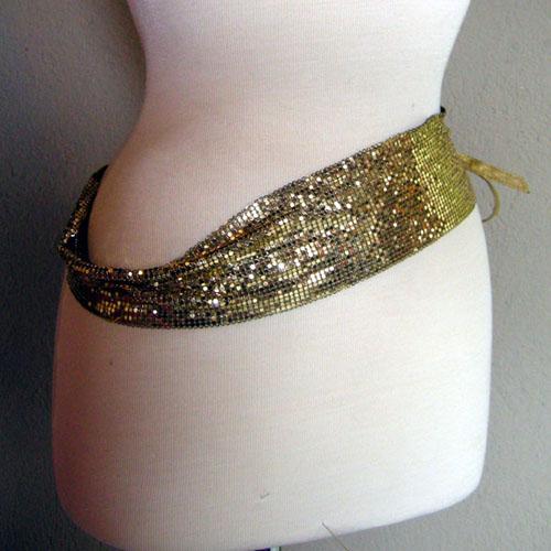 Whiting and Davis mesh disco designer belt-the remix vintage fashion