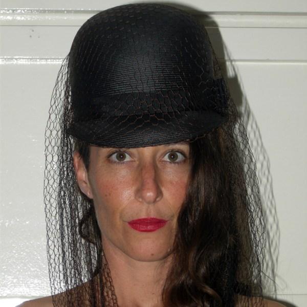 Leslie James 50s hat with veil-the Remix Vintage fashion