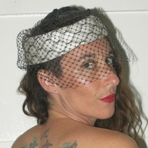 50s pillbox with veil-the Remix vintage fashion